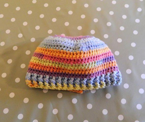 crochet beanies Messy Bun Hat Ponytail Hat Messy Mom Bun
