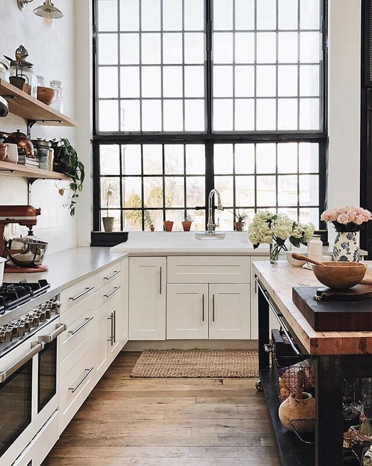 "10.3k Likes, 106 Comments - Apartment Therapy (@apartmenttherapy) on Instagram: ""Yah, we'll be dreaming about this kitchen for like EVER. (Image: @whiteshantyathome)"""
