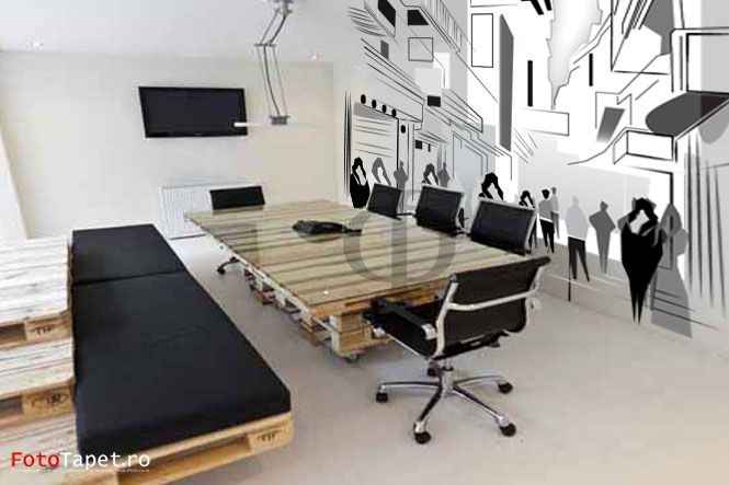 Office graphics    Wall, floor, ceiling- anything can be personalized with a special, latex alike, material that can help you personalize your home and make it memorable! Contact us: www.fototapet.ro