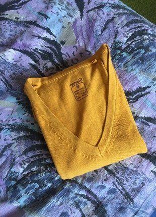 Kupuj mé předměty na #vinted http://www.vinted.cz/damske-obleceni/s-v-vystrihem/15801636-zluty-horcicovy-svetr-zn-esmara