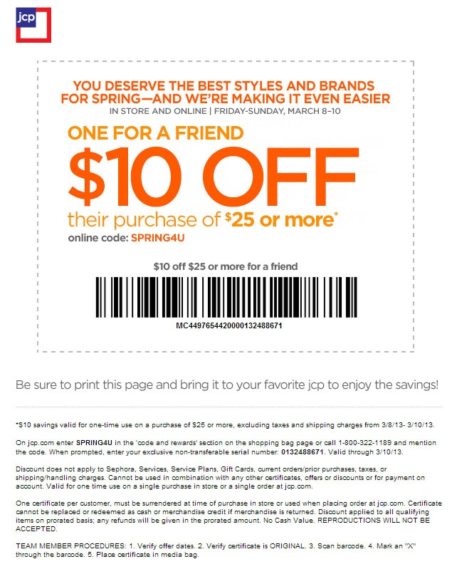 Jcpenney 10 off 10 coupon code