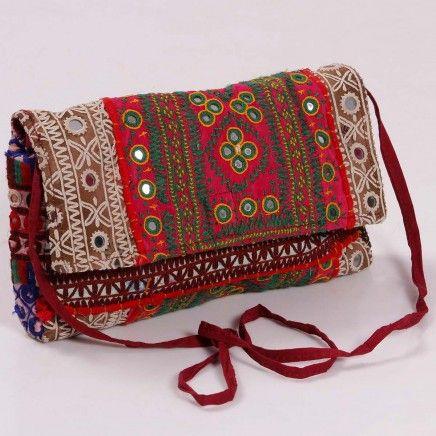 #Vintage #kutch #embroidered #sling #bag online india
