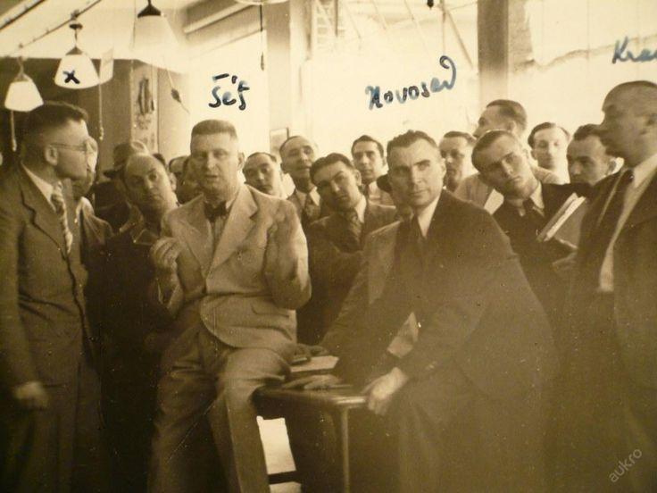 BAŤA - šéf J.A.BAŤA se spolupracovníky ! 25.6.1937