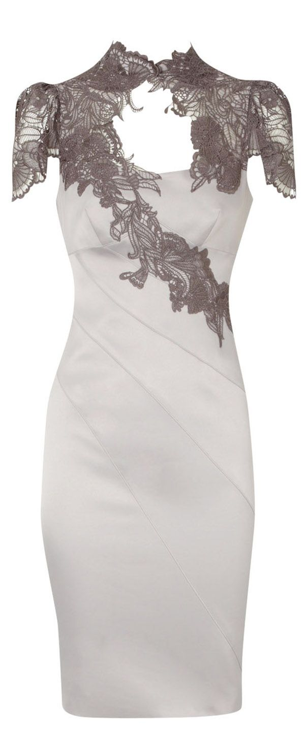Karen Millen Floral Applique Lace Neck Dress @Shannon Bellanca Bellanca Hilt I feel like you could so pull this off.