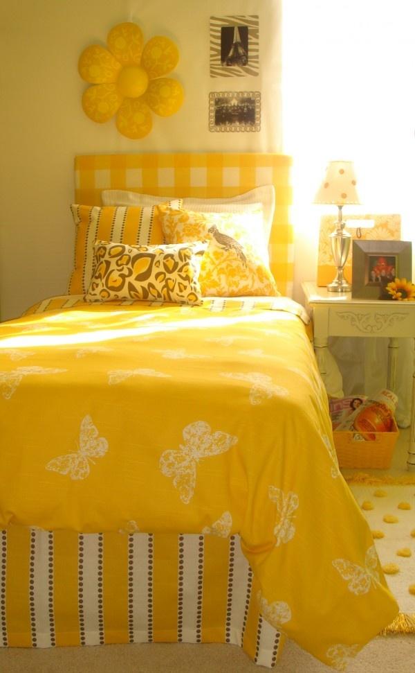 sunshine yellow bedroom
