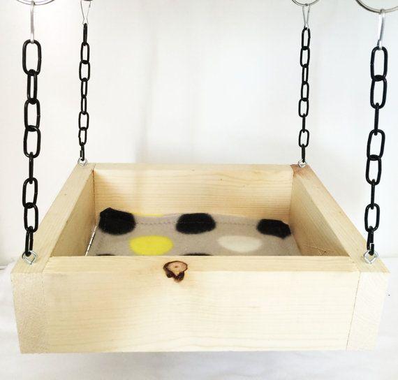 Ratty Wood Swing (Rat-Chinchilla-Guinea Pig-Hedgehog-Hamster-Mouse-Ferret-Degu)