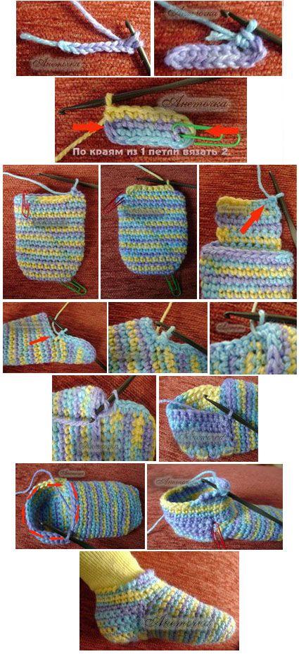 Hausschuhe häkeln - crochet slipper