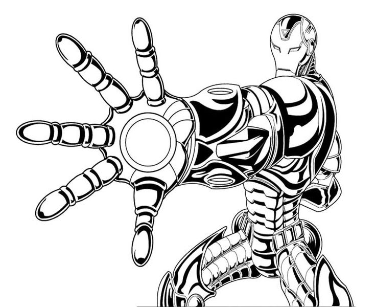 the invineible iron man coloring page