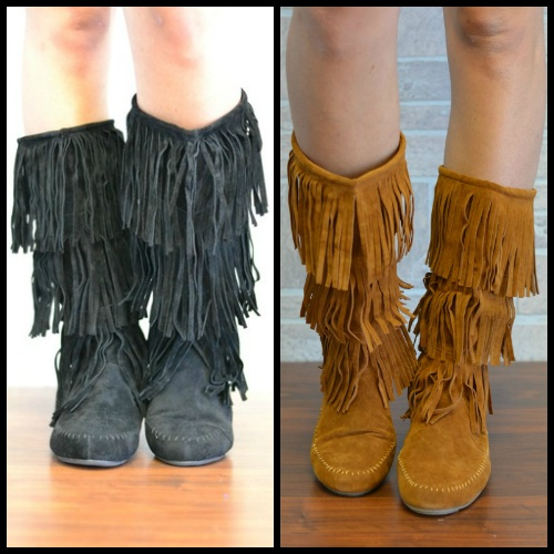 No Hassle, Tassle Boots- 2 Colors