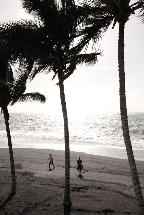 Kanarian saariin kuuluvalla La Palmalla rannat ovat tyylikkään mustia.