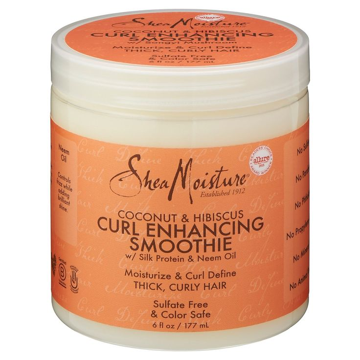 SheaMoisture® Coconut & Hibiscus Curl Enhancing Smoothie with Silk Protein and Neem Oil - 6oz : Target