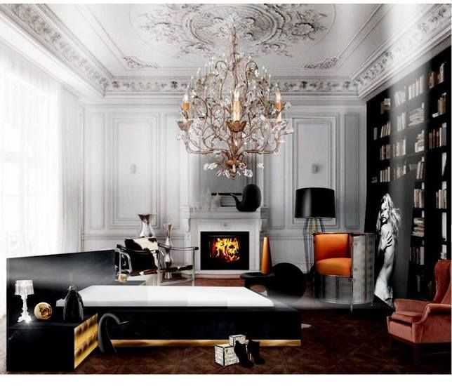 Luxury modern bed platform Dettifoss with bedside tables. Discover @Treniq - www.treniq.com