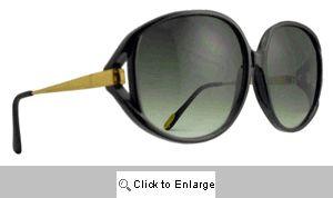 Temple Vintage Designer Sunglasses - 487 Black