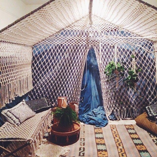 Emily Katz's macrame tent                                                       …