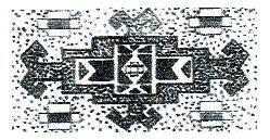Aina-Göl  Aina-Göl turkmenisch: Aina = Spiegel – Ornament als Innenfeldmuster bei Taschen der Turkmenen und bei Khorassan-Kurden als Teppichfeldmuster; hier zusätzlich mit Widderhornmotiven versehen.