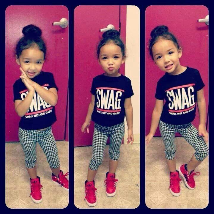Baby girl cool kid fashion baby swag