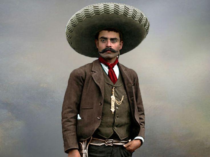Emiliano Zapata Salazar (1879 - 1919)fue uno de los líderes más importantes durante la Revolución Mexicanade 1910.  Conocido como El Caudillo del Sur o
