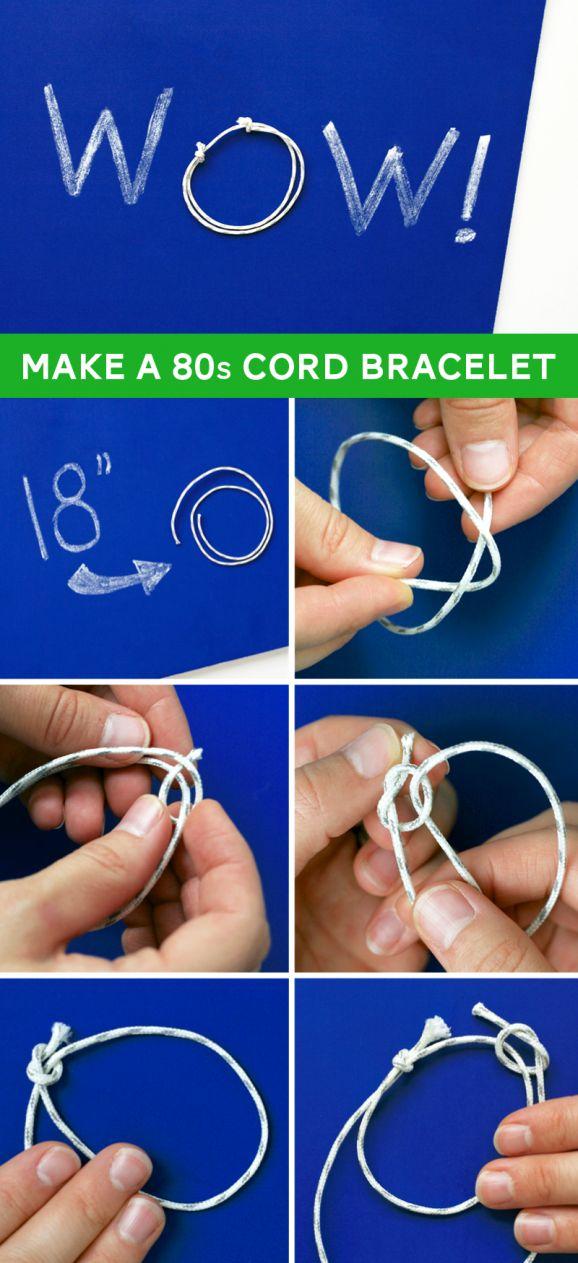 How to Tie an 80s Slip-Knot Friendship Bracelet via @PagingSupermom.com