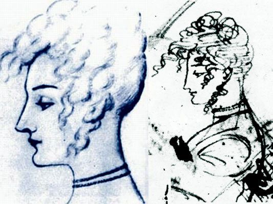 Pushkin's portraits of Karolina Sobanska