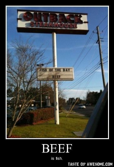 BeefFunny Things, Funny Pics, Funny Signs, Fish, Beef, Street Signs, Funny Stuff, Funny Photos, Irony Pictures