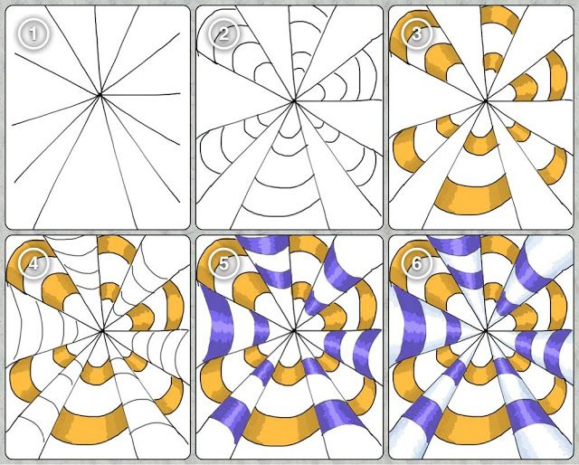 Op Art . It's in another language, but it has good step by step pictures