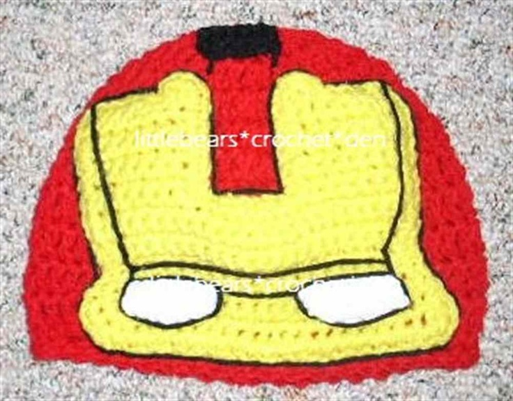 Iron Man Crochet Hat....Connor!!! :)