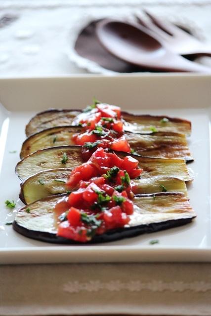 茄子のグリル フレッシュトマトソース