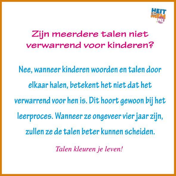 Zijn meerdere talen niet verwarrend voor kinderen?