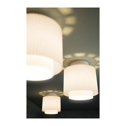IKEA 365+ UTKIK Ceiling lamp IKEA Diffused light produces decorative patterns on the ceiling.