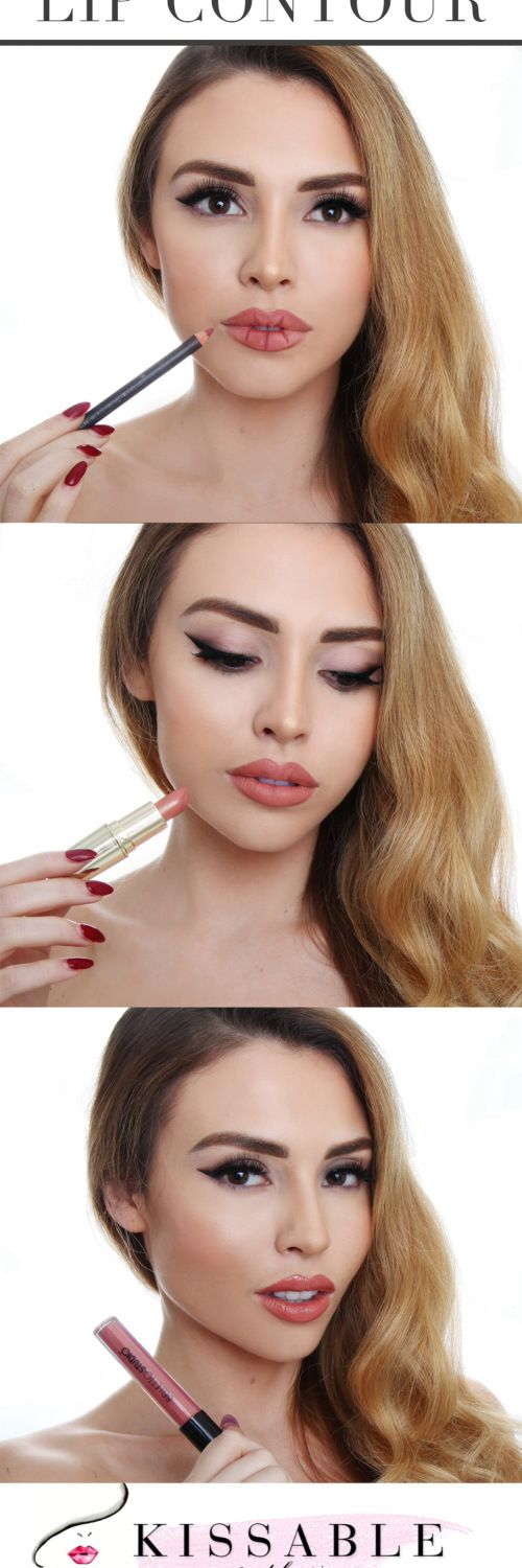 A quick and easy pictorial on how to create fuller & plumper lips in just minutes! You only need three products: Lipstick, Liner and Gloss! Feel like a new woman with these amazing faux-lip-augmentation tips! If you want to fake a pouty Jolie lip, click the pic...