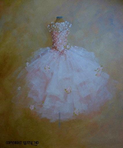ballet Tutu painting The Dance of the Flowers original ooak canvas still life fashion vintage ballerina art  FREE usa shipping. $300.00, via Etsy.