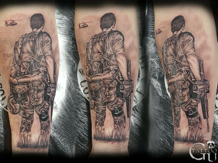 Armed forces soldier Tattoo