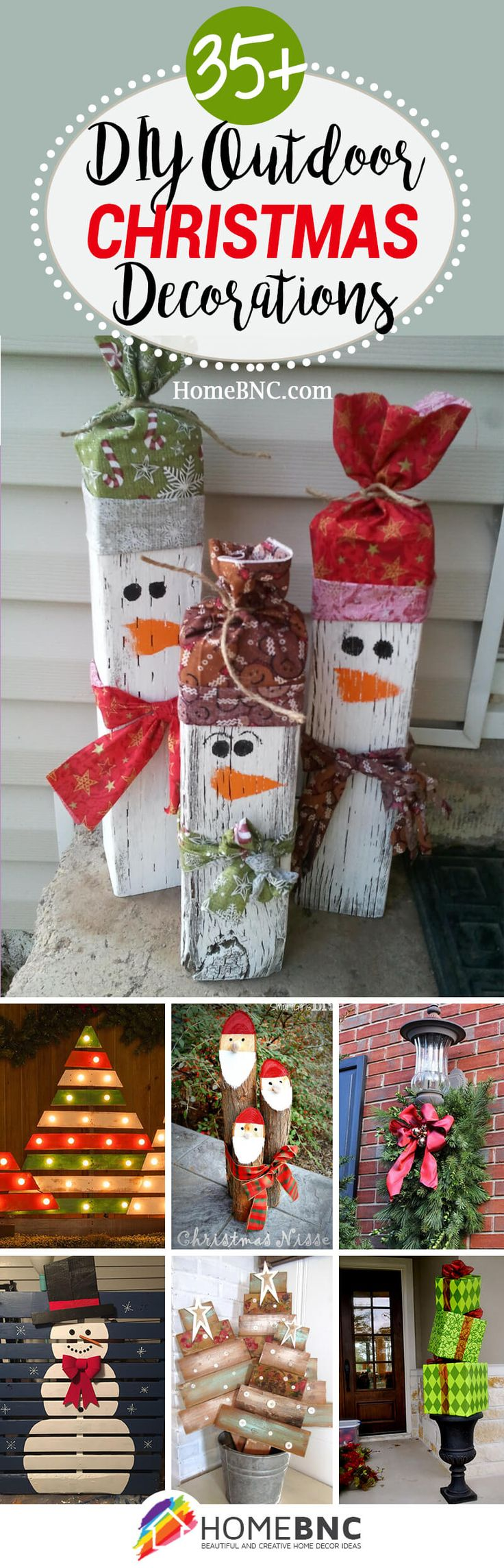 Christmas DIY Outdoor Decor Ideas #christmas#outdoors