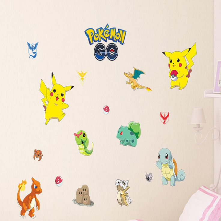The 25 Best Ideas About Pokemon Wall Stickers On