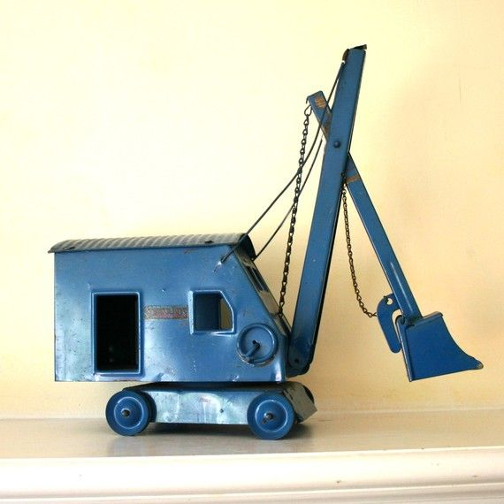 Blue steam shovel: Baby Products, Children Toys, Baby Toys, Kids Toys