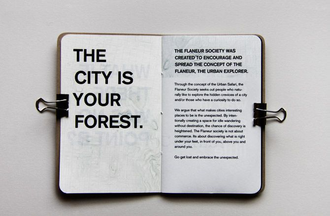 The Flaneur Society - The Guidebook to Getting Lost, the city is your forest