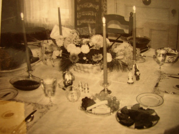 Vintage Photo Snapshot Thanksgiving 1961 Table by aroundtheclock, $2.95Thankgiving Photos, Thanksgiving Ideas, Vintage Photos, Photos Snapshot, Snapshot Thanksgiving, Thanksgiving 1961