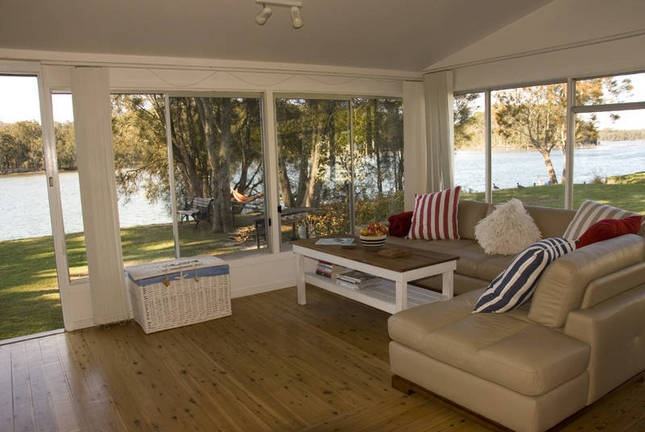 lake conjola - the living room overlooking lake