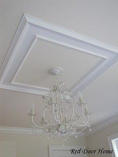 Erin, should I do something like this for the DR chandelier? would this require crown molding as well?