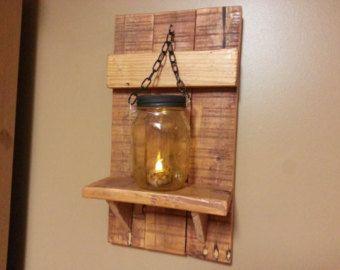 rustic home decor rustic mason jar decor sconces candle holders lantern shelf mason jar decor sold as a set of 2
