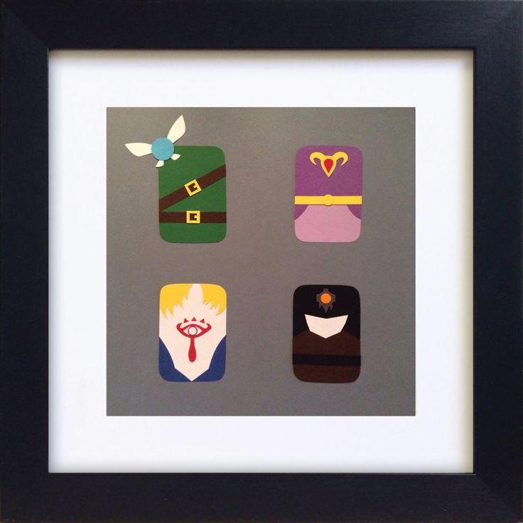 Handmade Minimalist Legend of Zelda Poster - Framed