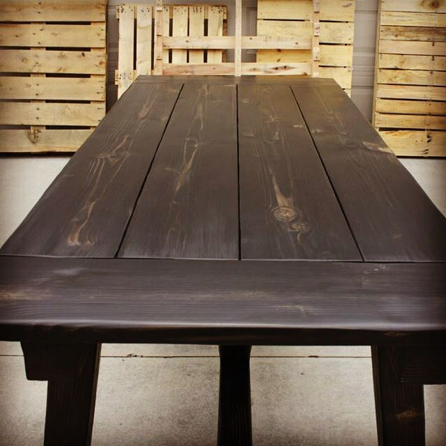 Rustic Farmhouse Table.  Plank Table.   By CJ Walk