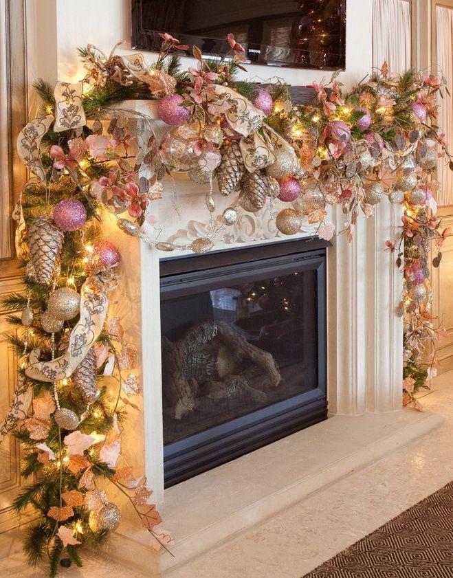 Christmas Mantel Decorations pinterest'teki 25'den fazla en iyi noel Şömine süsleri fikri