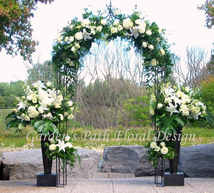 The 75 best wedding archesarbors images on pinterest glamping wedding arch by gardens path floral design junglespirit Image collections