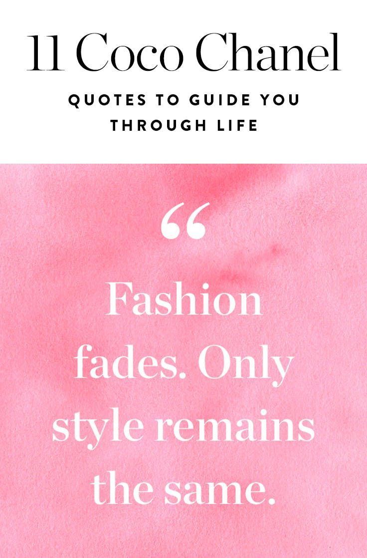 11 Coco Chanel Quotes to Guide You Through Life in Style via @PureWow
