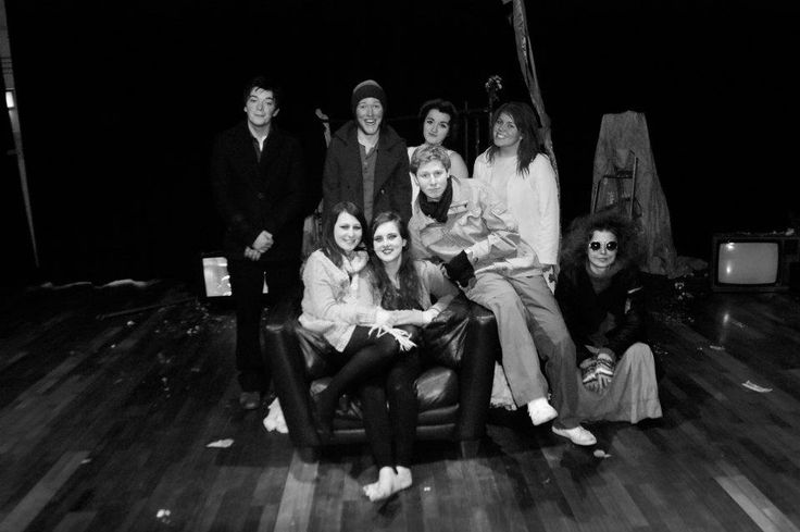 The cast of Antigone before the opening night.