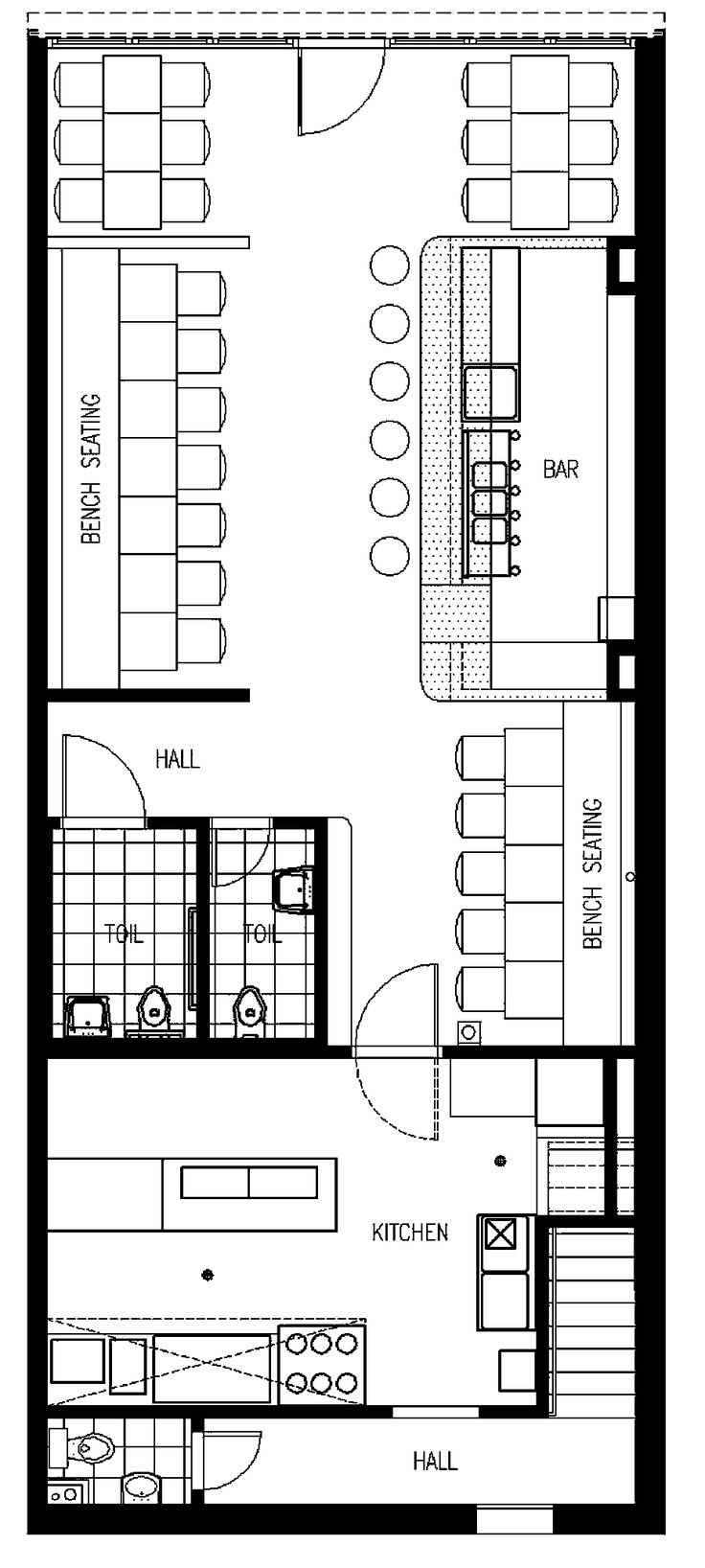 Restaurant floor plans templates - Cafe Floor Plan More