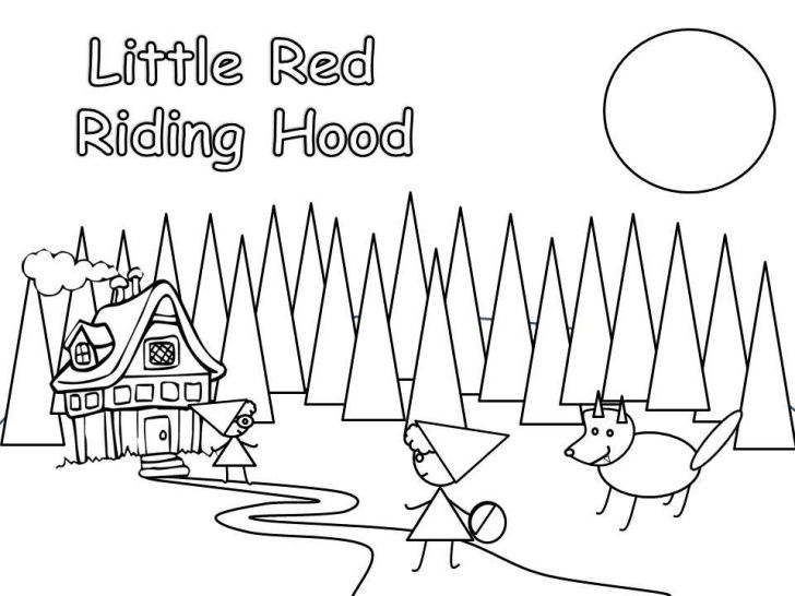 65 best images about proyecto comprensi n 2015 little red for Little red riding hood coloring pages printable