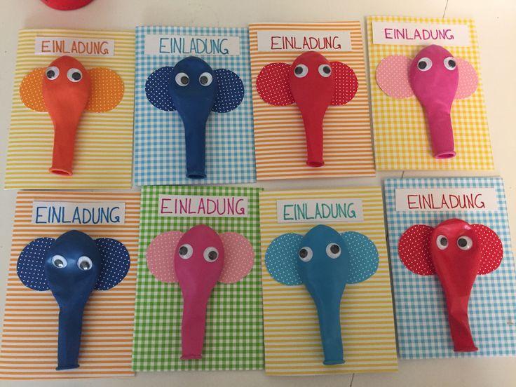 die besten 25 einladung kindergeburtstag basteln elefant ideen auf pinterest elefant. Black Bedroom Furniture Sets. Home Design Ideas