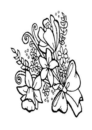 Blumenstrauss 42 zum Ausmalen #Ausmalbilder #